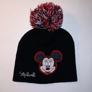 Minnie Mouse Disney Girls Winter Hat Beanie